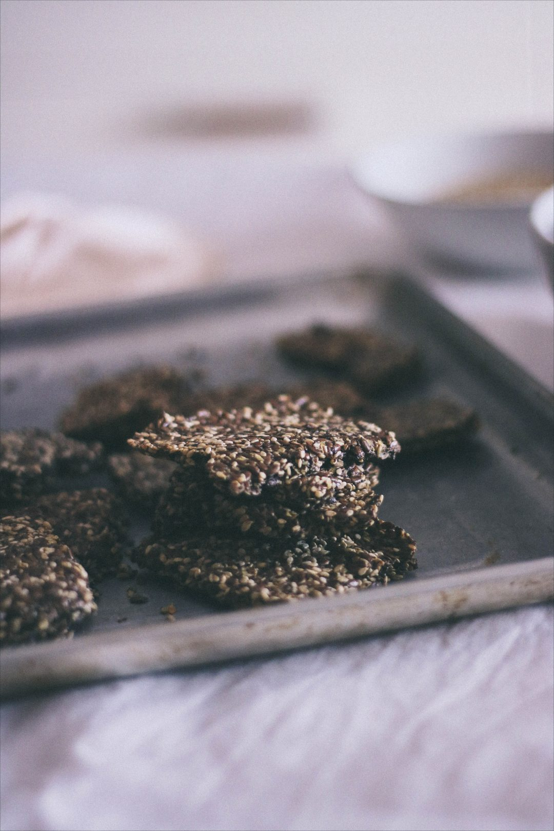 Cracker con semi di sesamo e lino - 3 Ingredienti | Sesame Flax Crackers 10